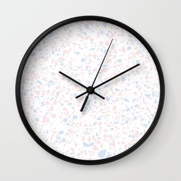 'Speckle Party' Lilac + Pink Dots Speckle Terrazzo Pattern Wall Clock