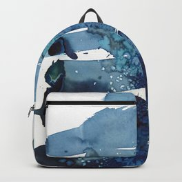 It's a windy day on the beach today. Backpack