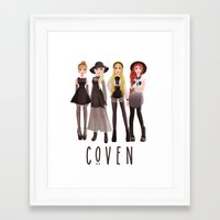 coven Framed Art Prints featuring Coven by archibaldart