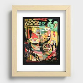 Pigtails Banana Chaos Recessed Framed Print