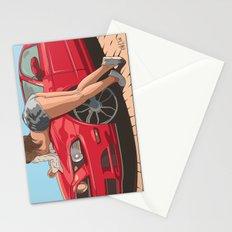 Girl & car II Stationery Cards