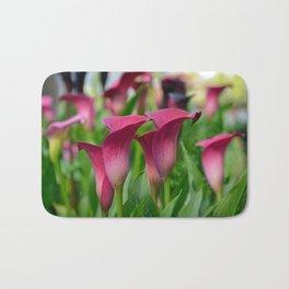 Beautiful pink callalilies Bath Mat