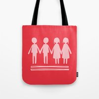 equality Tote Bags featuring Equality Love by MaJoBV