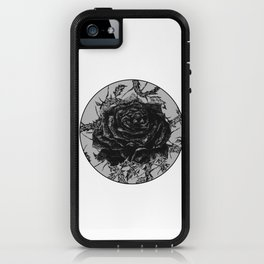 """""""Rose And Thorns"""" illustration by Maxime Potvin iPhone Case"""