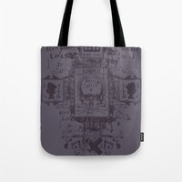 postcard Tote Bags featuring Sinful POSTCARD by Tshirt-Factory