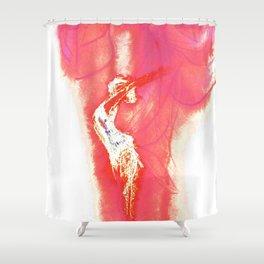 Pink Relief Spirit Shower Curtain