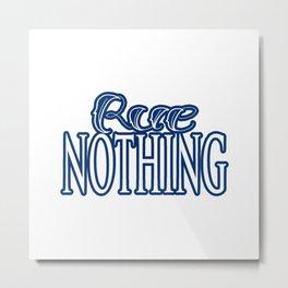 Rue Nothing Blue Logo Metal Print