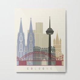 Cologne skyline poster Metal Print