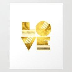 LOVE Typography Art Art Print