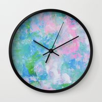 monet Wall Clocks featuring Monet by Shirleen Wong Studio
