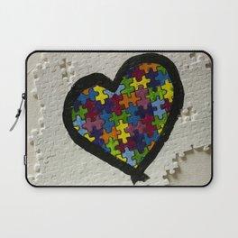 Autism Awareness Heart Laptop Sleeve