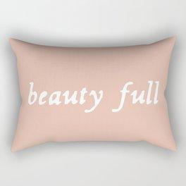 Beauty full - rose quartz blush Rectangular Pillow