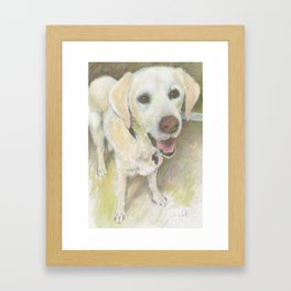 Lucky the Labrador Framed Art Print