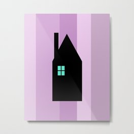 The House With The Turquoise Light On No.3 Metal Print