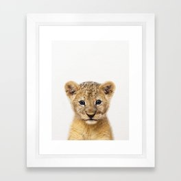 Baby Lion, Baby Animals Art Print By Synplus Framed Art Print