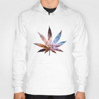 marijuana Hoodies featuring Marijuana Leaf - Design 2 by Spooky Dooky