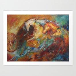 Krishna's horses Art Print
