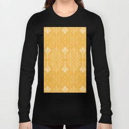 Lily Lake - Retro Floral Pattern Curry Long Sleeve T-shirt
