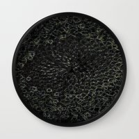 sacred geometry Wall Clocks featuring Sacred Geometry by Wghdesign