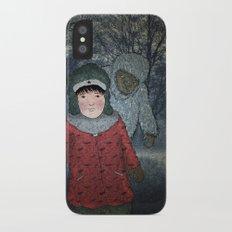 Посмотри! Йети - Beware of the Yeti!  Slim Case iPhone X