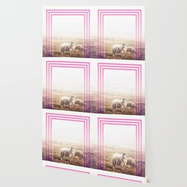 Sheep - pink graphic Wallpaper