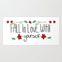 paramore Art Prints featuring Fall in love with yourself by ....