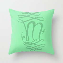 The Letter M Throw Pillow
