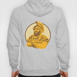 King Agamemnon Arms Crossed Circle Drawing Hoody