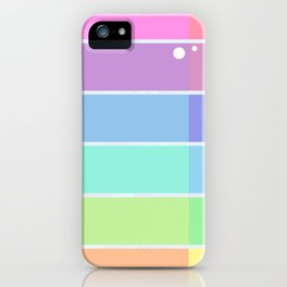 Dropped in rainbow iPhone Case