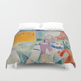 """Robert Delaunay """"Astra"""" (also known as Study for """"The Football Players of Cardiff"""") Duvet Cover"""