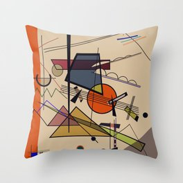 Abstract Composition 522 Throw Pillow
