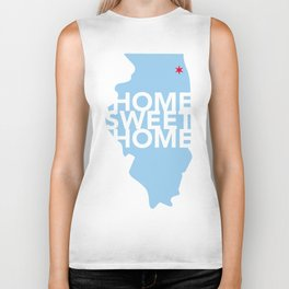Chicago Home Sweet Home Biker Tank