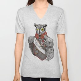 General Owlington Unisex V-Neck