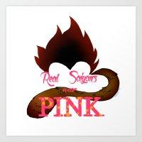Real Saiyans Wear Pink Art Print