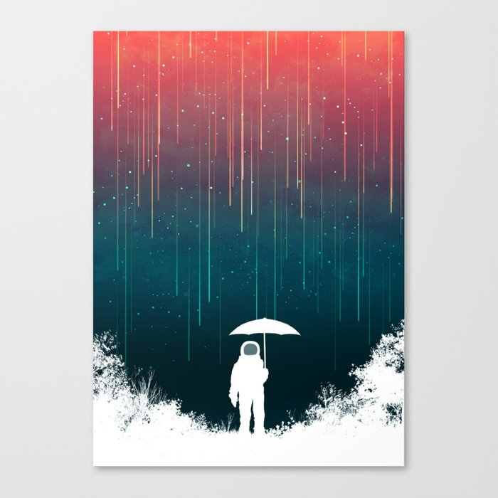 Meteoric rainfall Canvas Print