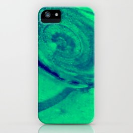Teal wood texture abstract iPhone Case