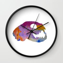 Cat Skull Art Wall Clock