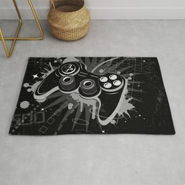 Gamepad Graffiti Grunge Rug