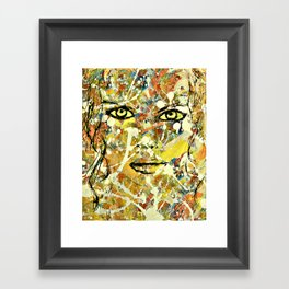 Abstract Stare Framed Art Print