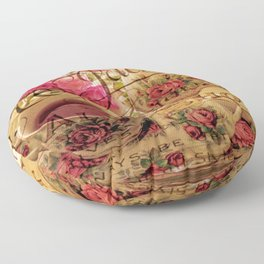 Teacup and Roses 3 Floor Pillow