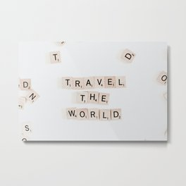 Travel the world #buyart #society6 #decor Metal Print