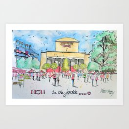 In the Junction Art Print