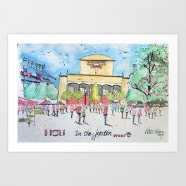 In the Junction Art Print