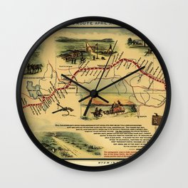 The Pony Express Goes Through Wall Clock