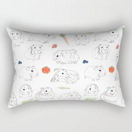 Guinea Pigs and Vegetables Rectangular Pillow