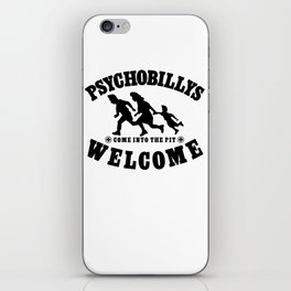 PSYCHOBILLYS WELCOME - COME INTO THE PIT iPhone Skin