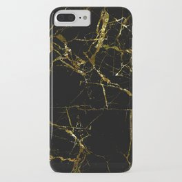 Golden Marble - Black and gold marble pattern, textured design iPhone Case