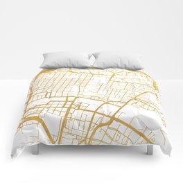 GLASGOW SCOTLAND CITY STREET MAP ART Comforters