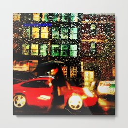 Pouring in Chicago Metal Print