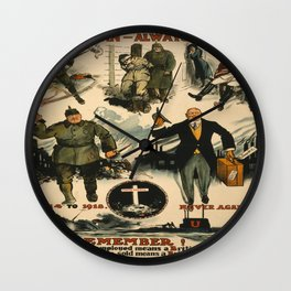 Vintage poster - Once a German Wall Clock